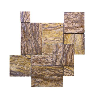 Random Sized Natural Stone Mosaic Tile in Alpine