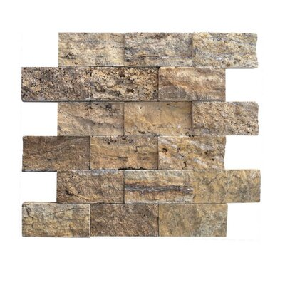 2 x 4 Natural Stone Mosaic Splitface Tile in Alpine