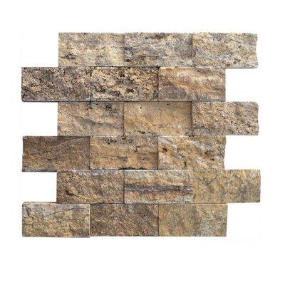 2 x 4 Natural Stone Mosaic Splitface Tile in Alpine