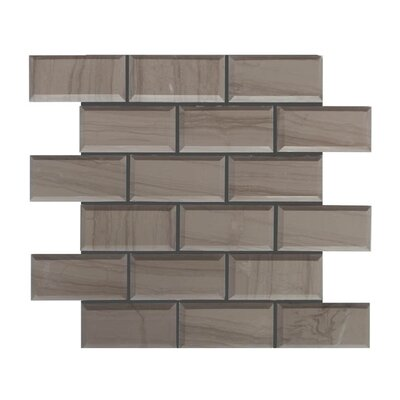 Pillow Edge Polished 2 x 4 Natural Stone Mosaic Tile in Athens Gray