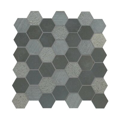 Natural Stone Mosaic Tile in Black
