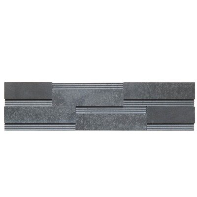 Wall Panel Polished Natural Stone Mosaic Tile in Black