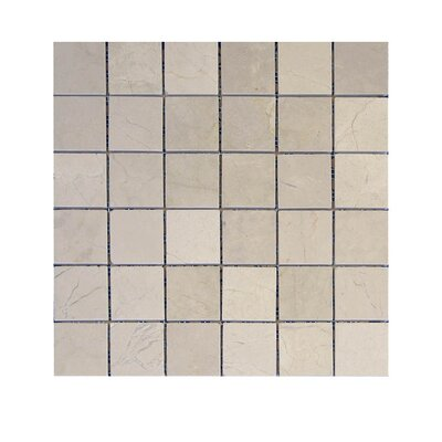 Polished 2 x 2 Natural Stone Mosaic Tile in Crema Marfil