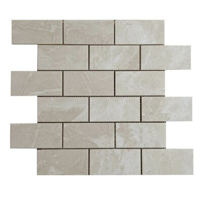 Polished 2 x 4 Natural Stone Mosaic Tile in Crema Marfil