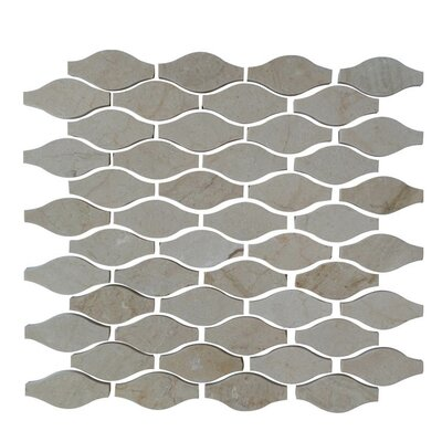 Drops Natural Stone Mosaic Tile in Crema Marfil