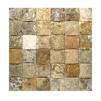 3D Honed 2 x 2 Natural Stone Mosaic Tile in Fantastico