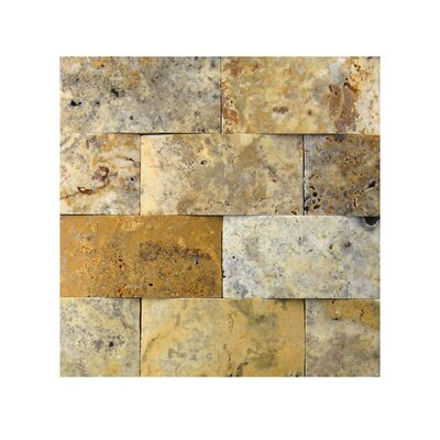 3D Honed 2 x 4 Natural Stone Mosaic Tile in Fantastico