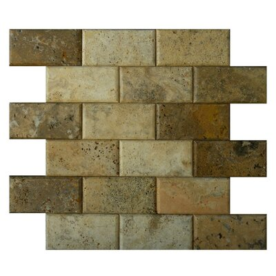 Pillow Edge 2 x 4 Natural Stone Mosaic Tile in Fantastico