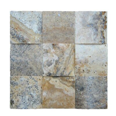3D Honed 4 x 4 Natural Stone Mosaic Tile in Fantastico