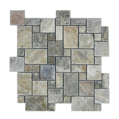 Tumbled Natural Stone Mosaic Tile in Fantastico