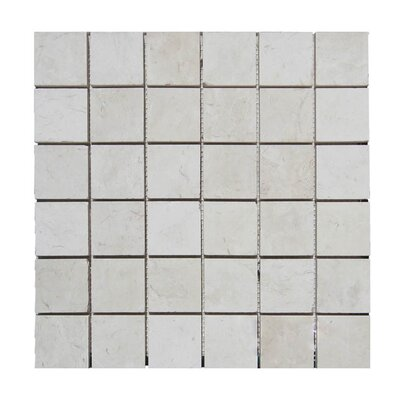 Honed 2 x 2 Natural Stone Mosaic Tile in Freska