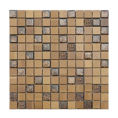 1 x 1 Glass Mosaic Tile in Brown