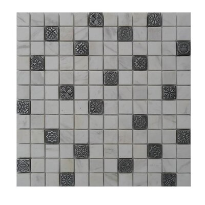 Glass Mosaic Tile in Gray/Black