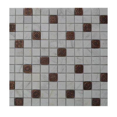 Glass Mosaic Tile in Gray/Brown