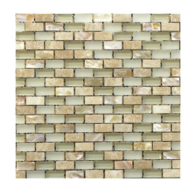 Glass Mosaic Tile in Beige