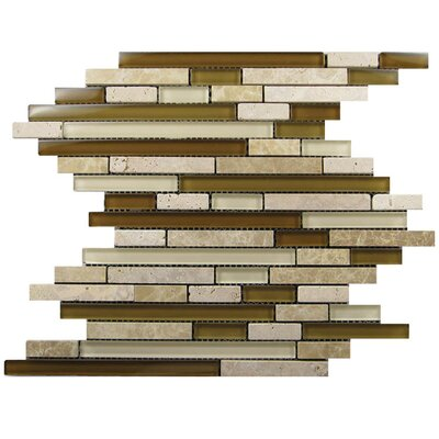 Glass Mosaic Tile in Brown/Beige