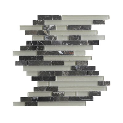 Glass Mosaic Tile in Gray