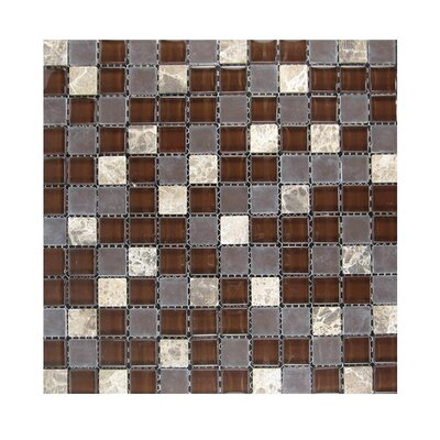 Glass Mosaic Tile in Brown/Gray