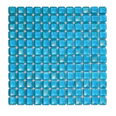 1 x 1 Glass Mosaic Tile in Blue
