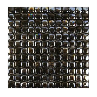 Glass Mosaic Tile in Black