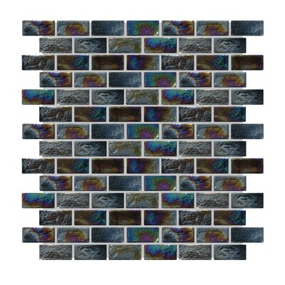 Glass Mosaic Tile in Gray/Blue