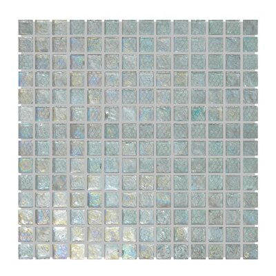 Glass Mosaic Tile in Aqua