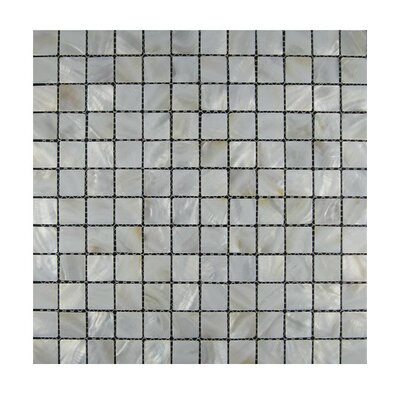 1 x 1 Glass Mosaic Tile in Gray