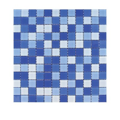 Glass Mosaic Tile in Blue GLASS MOSAICS:GLASS/TMS-818