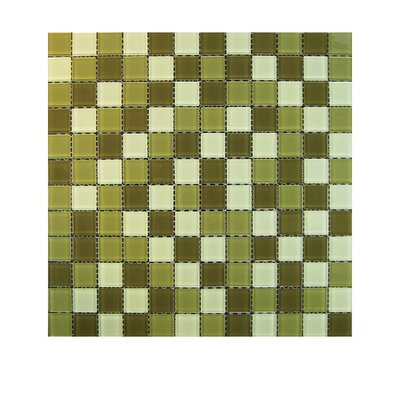 Glass Mosaic Tile in Green GLASS MOSAICS:GLASS/TMS-L135