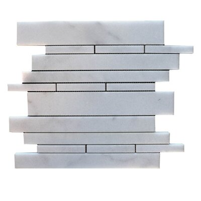 Strips  Natural Stone Mosaic Tile in Lusso Carrara