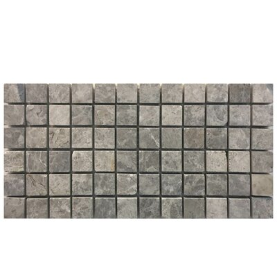 Tumbled 1 x 1 Natural Stone Mosaic Tile in Marine Fantasy