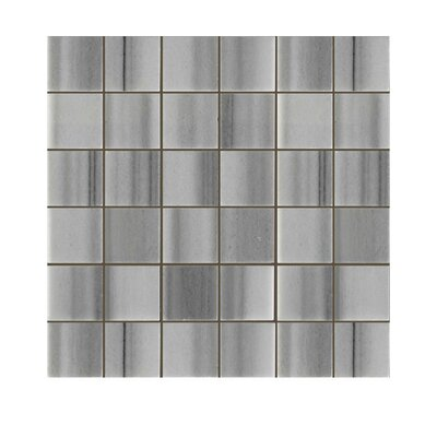 Polished 2 x 2 Natural Stone Mosaic Tile in Marmara White