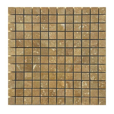 Honed 1 x 1 Natural Stone Mosaic Tile in Noce