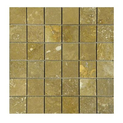 Honed 2 x 2 Natural Stone Mosaic Tile in Noce