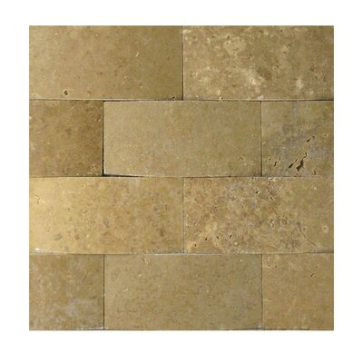 3D Honed 2 x 4 Natural Stone Mosaic Tile in Noce