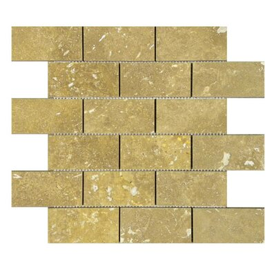 Honed 2 x 4 Natural Stone Mosaic Tile in Noce