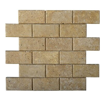 Pillow Edge 2 x 4 Natural Stone Mosaic Tile in Noce