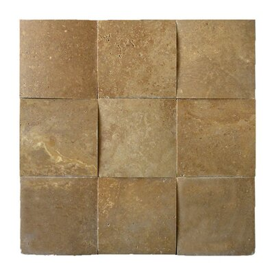 3D Honed 4 x 4 Natural Stone Mosaic Tile in Noce