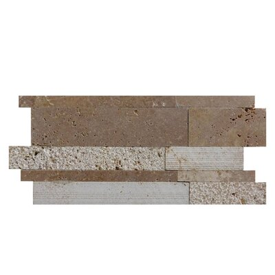 Salix Natural Stone Mosaic Tile in Noce