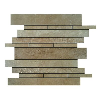 Strips Natural Stone Mosaic Tile in Noce