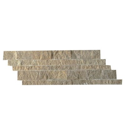 Natural Stone Mosaic Splitface Tile in Noce