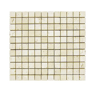 Tumbled 1 x 1 Natural Stone Mosaic Tile in Nysa