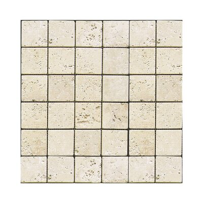 Tumbled 2 x 2 Natural Stone Mosaic Tile in Nysa