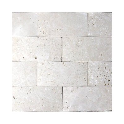3D Honed 2 x 4 Natural Stone Mosaic Tile in White