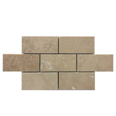 Honed 2 x 4 Natural Stone Mosaic Tile in Brown