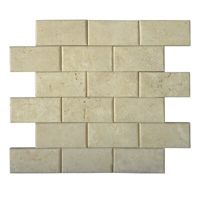 Pillow Edge 2 x 4 Natural Stone Mosaic Tile in Brown