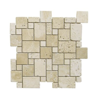 Tumbled Natural Stone Mosaic Tile in Brown