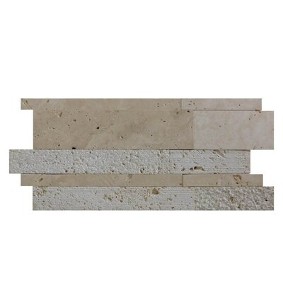 Natural Stone Mosaic Tile in Brown/Gray