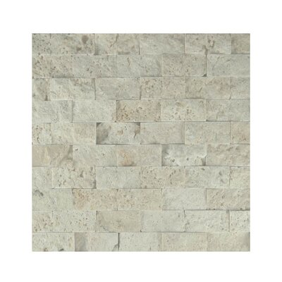 1 x 2 Natural Stone Mosaic Splitface Tile in Beige