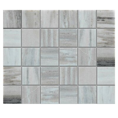 Polished 2 x 2 Natural Stone Mosaic Tile in Gray